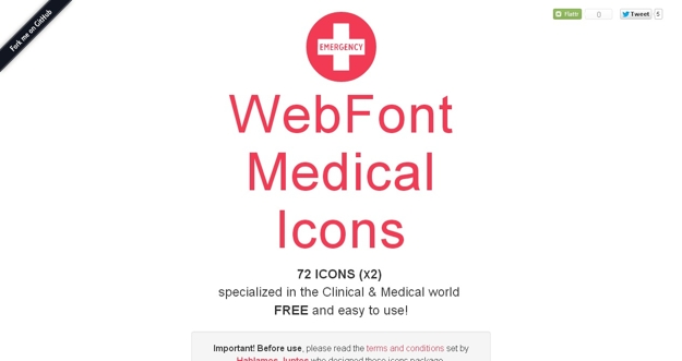 WebFont Medical Icons