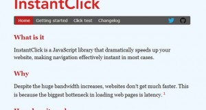 InstantClick : JS Lib to Make Your Website Instant