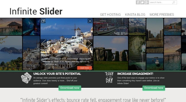 Infinite Slider