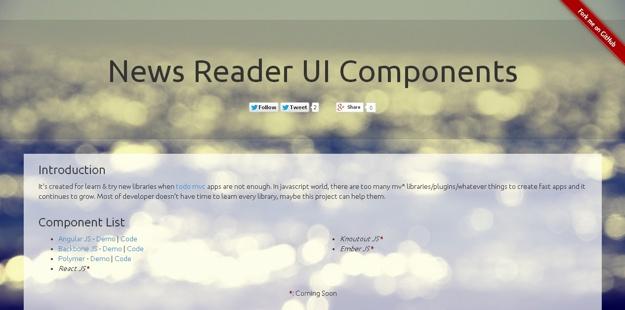 UI News Reader Components