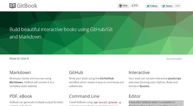 Build beautiful interactive books using GitHub/Git and Markdown