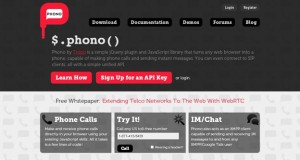 Phono : Turns Any Web Browser into a Phone