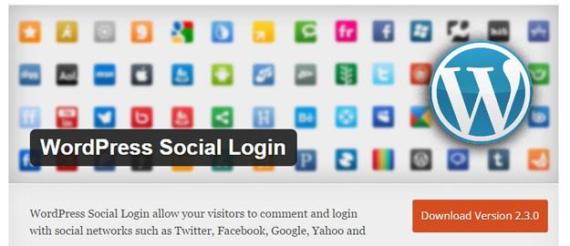 wordpress social login